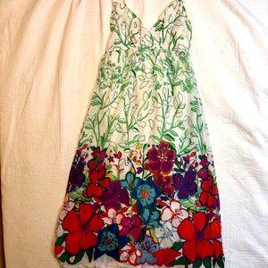 Old navy floral empire waist maxi dress